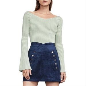 $178 NEW BCBG Dusty Sage Zoee Top Sweater Small